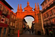 the city of Braga doorway