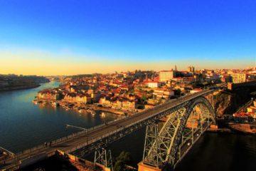 la ciudad del porto vista desde la sierra del pilar