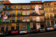 the typical houses in porto downtown