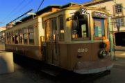 the tradicional old tram in porto