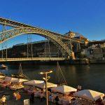 vista da ribeira sobre a ponte luis I