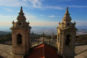 view over braga city from the rooftop of sameiro sanctuary