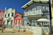 the striped colorful houses in Costa nova