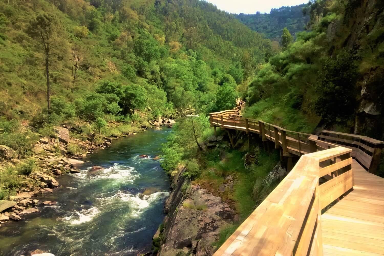 os passadiços do paiva ao longo do rio paiva