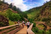people hiking at the paiva walkways