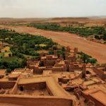 vista do alto do kasbah de ait ben haddou, morocco
