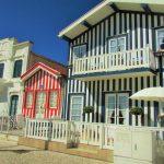 as casas típicas dos pescadores na costa nova