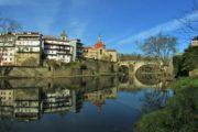 tamega river passing through amarante town