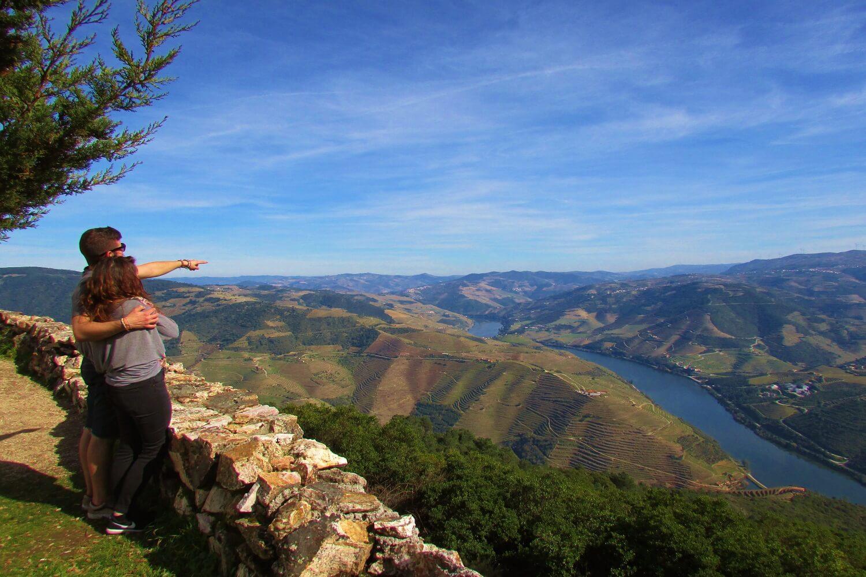 viewpoint of sao leonardo galafura in douro region