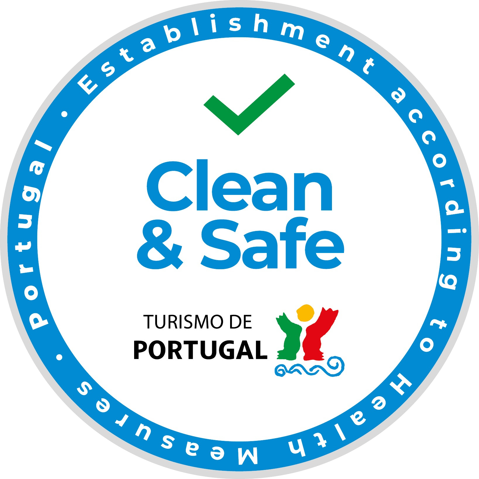 Clean and safe logo portugal